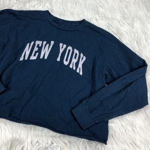 J. Galt NEW YORK Cropped Long Sleeve Tee